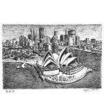 Sydney Opera House and skyline by Stephen Wiltshire