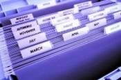 files, neatly arranged can help you organise your household