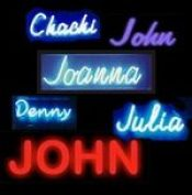 names in neon lights would constitute one of the memory improvement tips for names