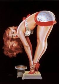 pin-up on the scales - organise your health and fitness, forget the scales