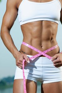 Woman with great abs - I guess she's started to organise your health and fitness