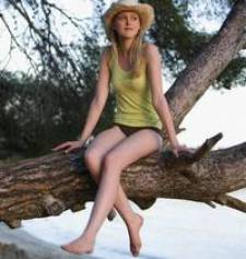 girl sitting on a branch (she's called Teresa!)
