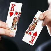 Ripped or mutilated playing cards stand out in your mind