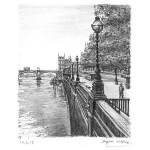 View of Westminster Bridge in summer by Stephen Wiltshire
