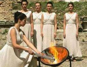 lighting the flame at the Olympics