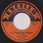"Pochette de ""I'm A Lover, Not A Fighter"" par LAZY LESTER (1958)"