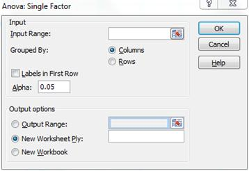 Data analysis tool options