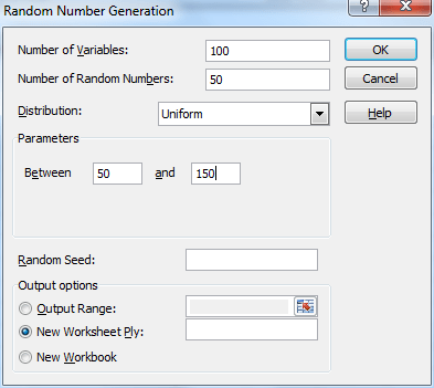 simulation real statistics using excel random number generation tool