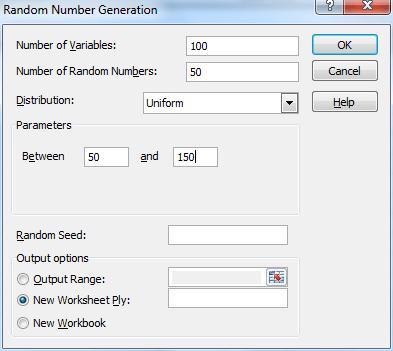 Random number generation tool