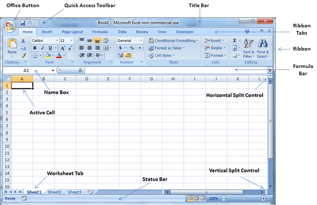 Excel User Interface