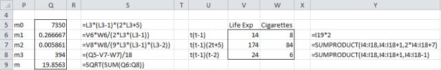 Kendall's correlation standard error