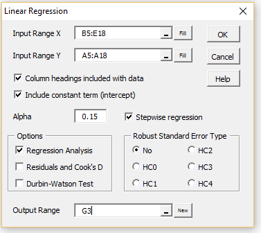 Stepwise Regression | Real Statistics Using Excel