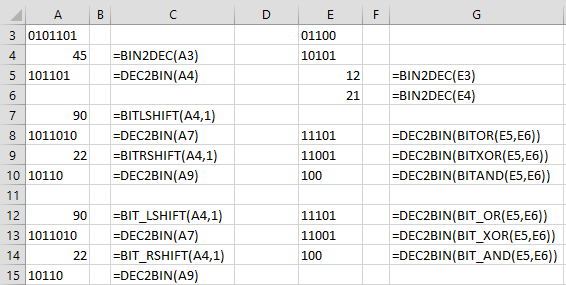 Bitwise Arithmetic | Real Statistics Using Excel