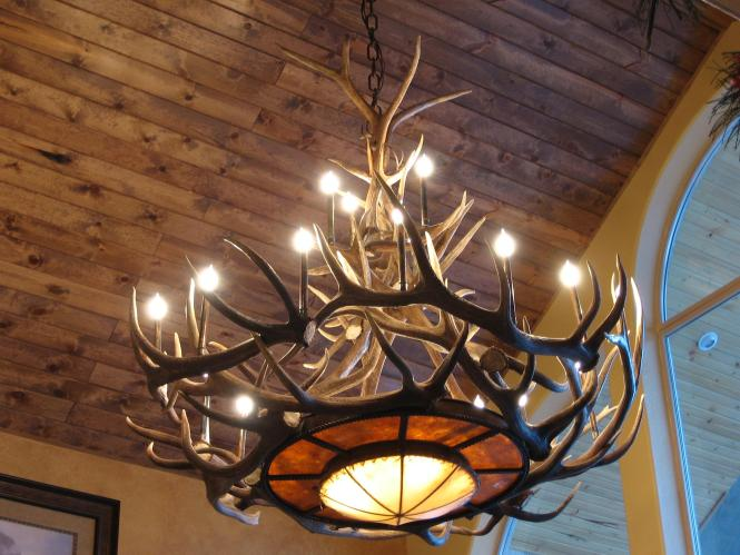 Peak Tweed S Rawhide Elk Antler Chandelier 25 Light