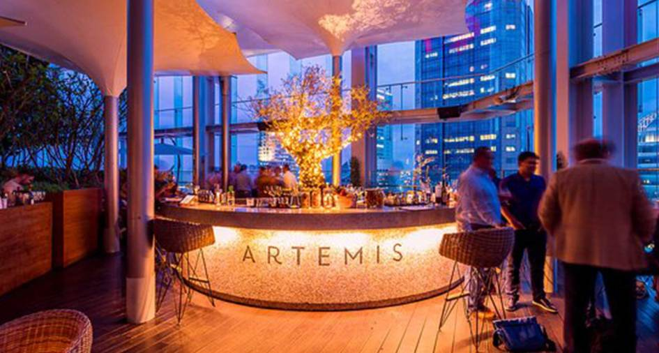 Artemis cocktail bar and restaurant Singapore
