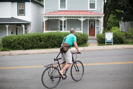 Showing houses on bicycles in Charlottesville