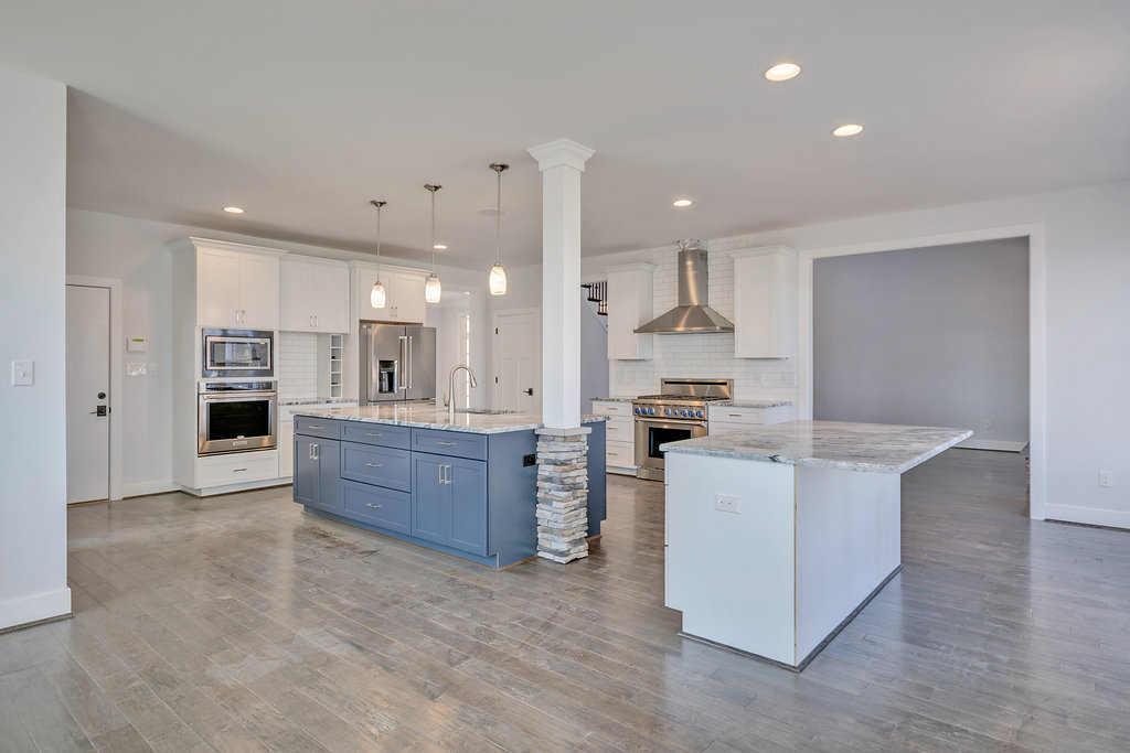 Professional photo of a new construction kitchen in Crozet