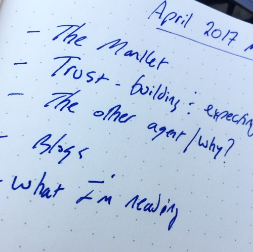 April 2017 Note from Jim Duncan