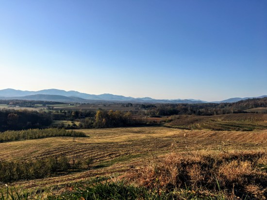 View of Crozet from the Orchard