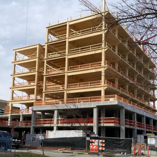 Apex Mass Timber Building in Downtown Charlottesville