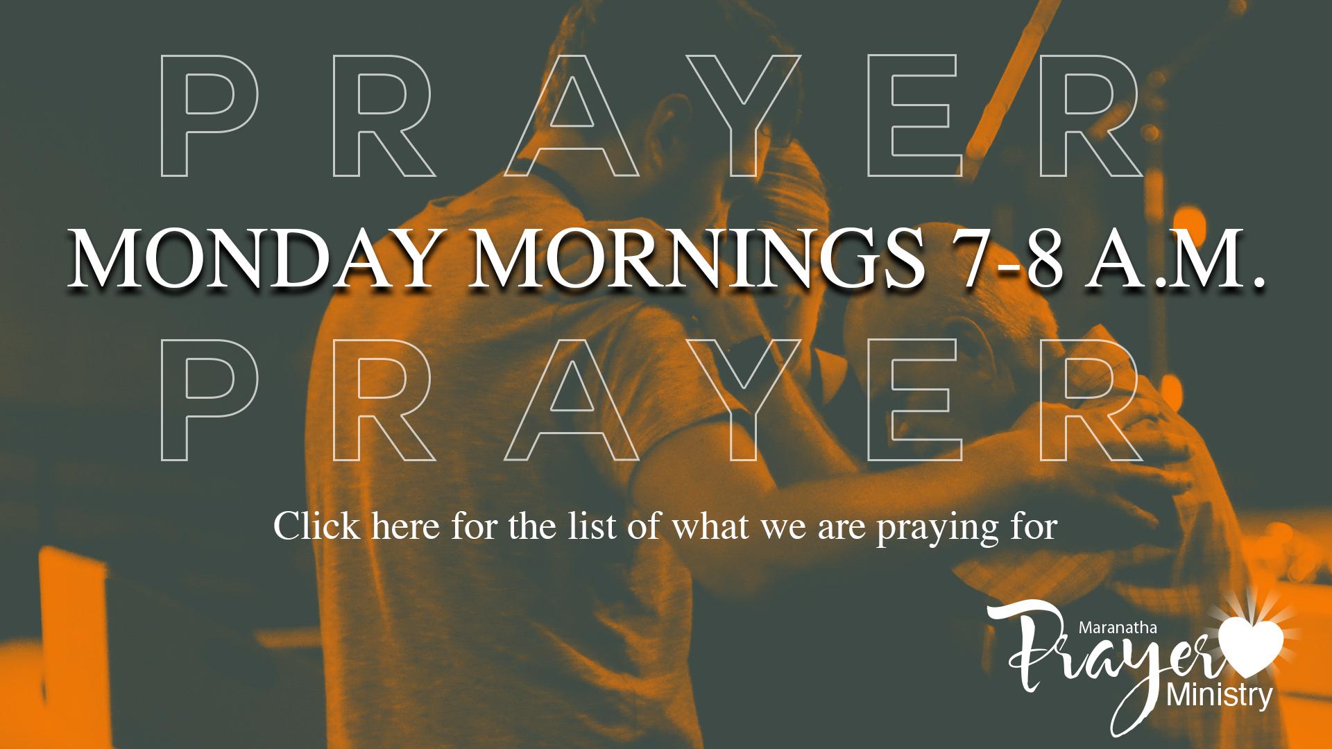 2020 Prayer Mondays logo