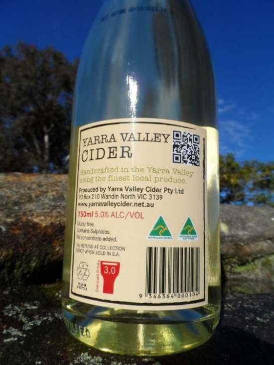 Yarra Valley Jazz Apple Cider Made in Australia