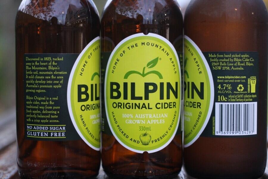 Bilpin Orginal Cider labels