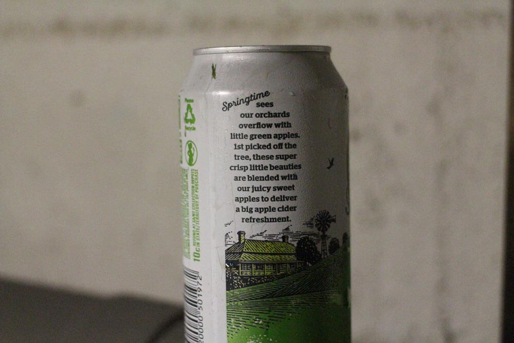 Little Green Sweet Apple Cider nonsense label
