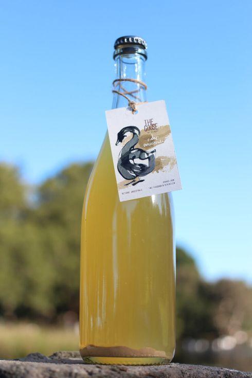 The Goose Cider Ancestrale sediment