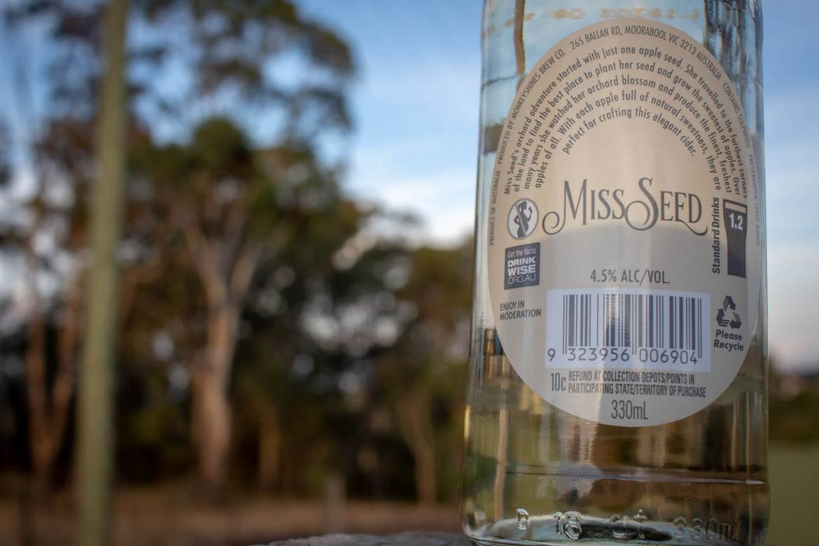 Miss Seed Apple Cider Monkey Shine BrewCo