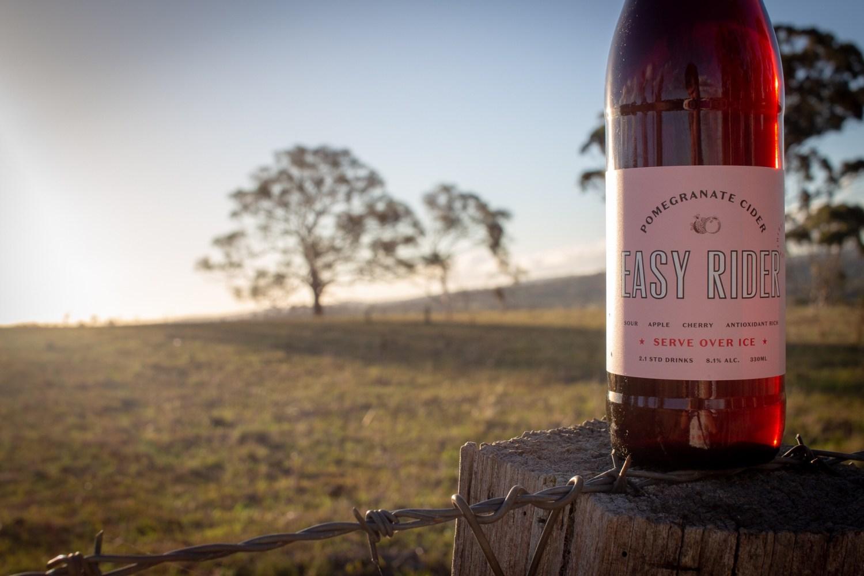 easy rider pomegranate cider
