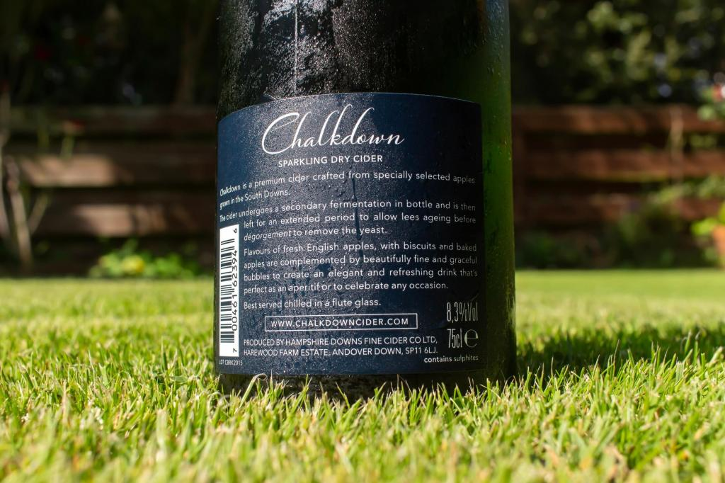 photo of the back of Chalkdown Cider Bottle