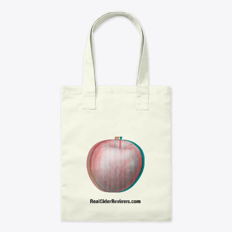 Glitched Out Apple tote bag