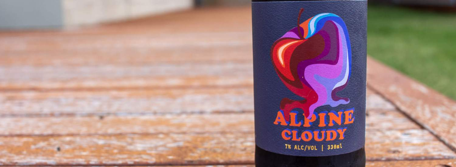 Alpine Cloudy Cider bottle