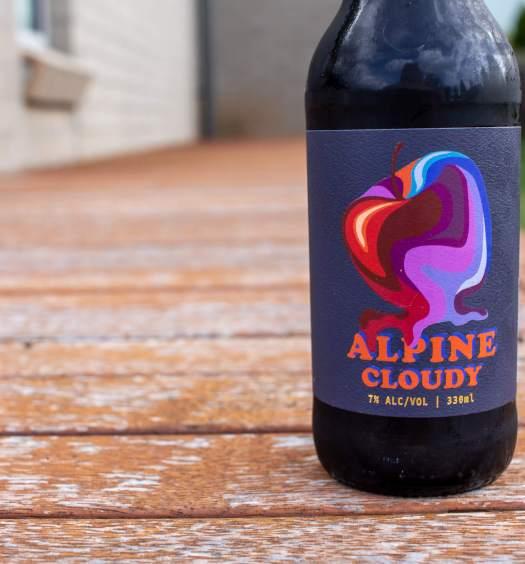 Alpine Cloudy Cider bottle