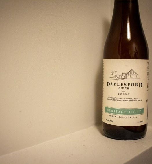 bottle of Daylesford Heritage Light Cider