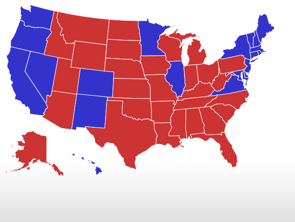 President Live Results Map
