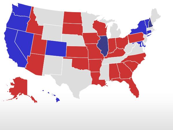 Senate Live Results Map