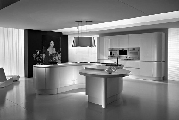 rounded kitchen cabinet