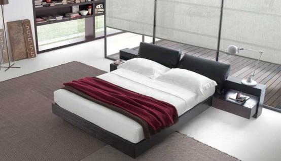 contemporary queen beds