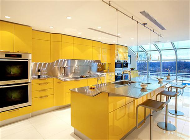 Yellow-Kitchen-by-Snaidero-with-modern-and-amazing-design