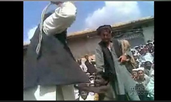 Pakistan: Clip from Video of Islamic Supremacist Taliban Beating Child (Photo: MSNBC)