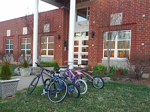 Crozet Elementary's Bike Rack