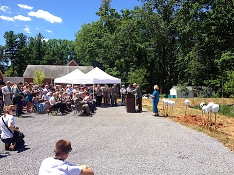 Crozet library groundbreaking