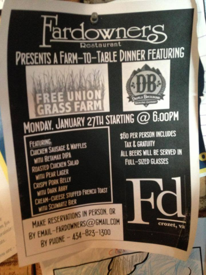 Farm to Table Dinner at Fardowners