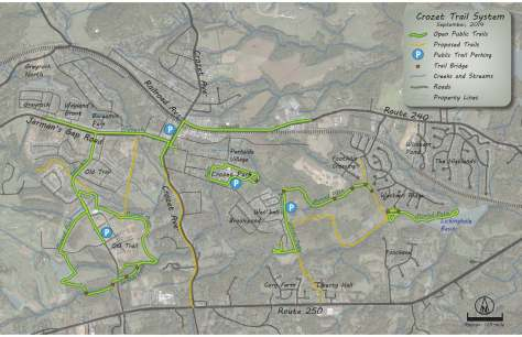 Crozet Trails Map - September 2014