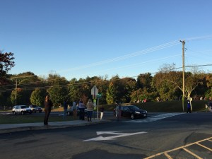 Walk/Bike to School Day at Crozet Elementary School
