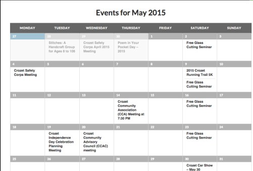 Events for May 2015 | RealCrozetVA
