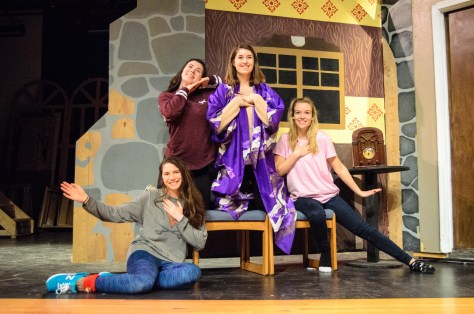 """The Pink Ladies in the number """"Freddy, My Love"""" from """"Grease"""": Carly Haling, Ryann Sheehy, Virginia Garey and Lauren Rider."""