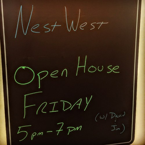 NestWest Open House - Friday, 29 September 2017. 5pm - 7pm. With David Ferrall & Jim Duncan